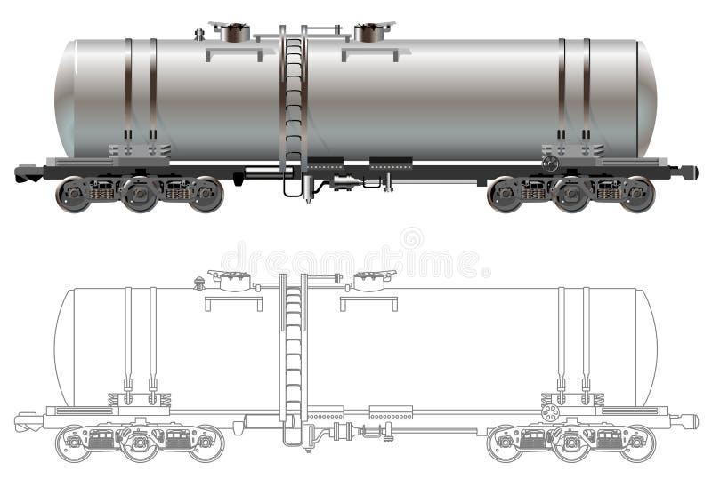 Oil / gasoline tanker car vector illustration