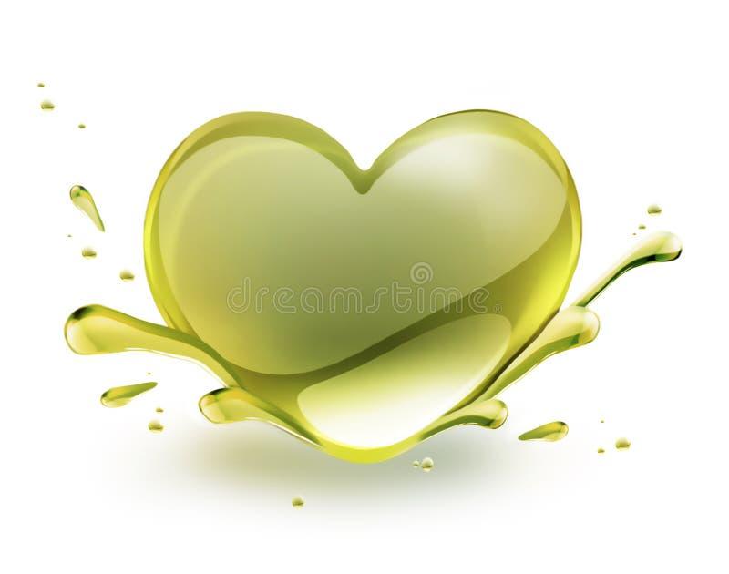Oil heart vector illustration
