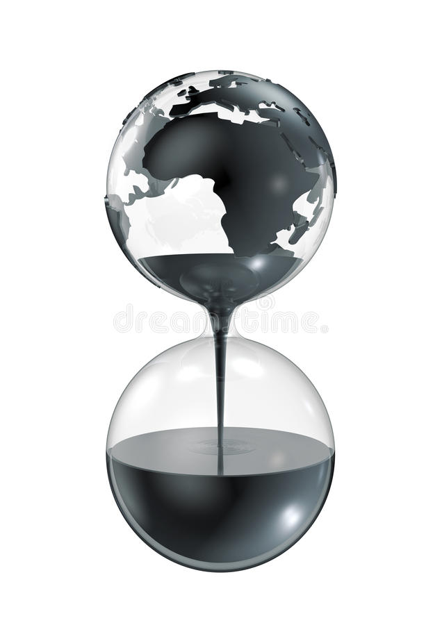 Download Oil hourglass stock illustration. Illustration of ecology - 24648051