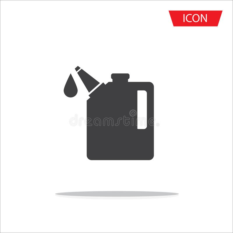 Oil icon vector , Oil Gallon icon isolated on white background. stock illustration