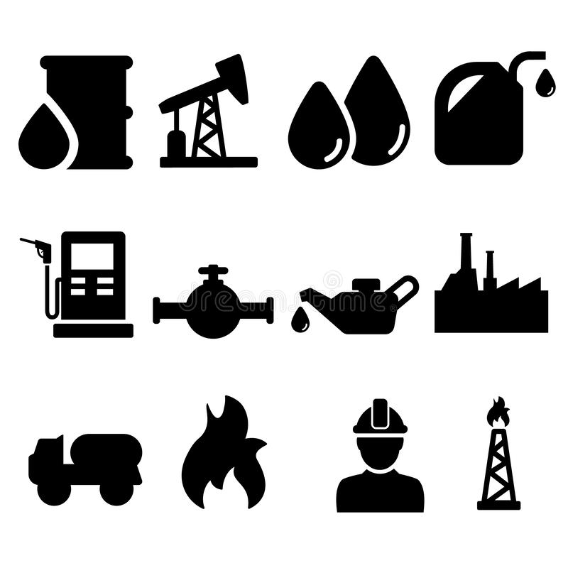 Oil Icons vector set. Barrel symbol illustration collection. energy sign or icon. For web or mobile vector illustration