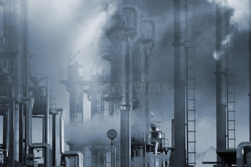 Oil industrial pollution stock photography