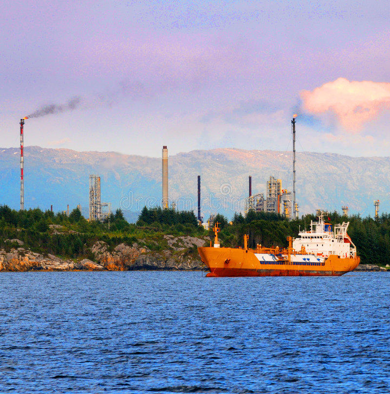 Oil industry - ship stock photo