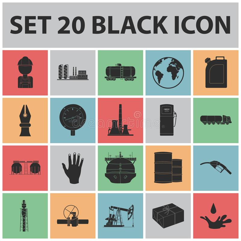 Oil Industry Black Icons In Set Collection For Design Equipment And