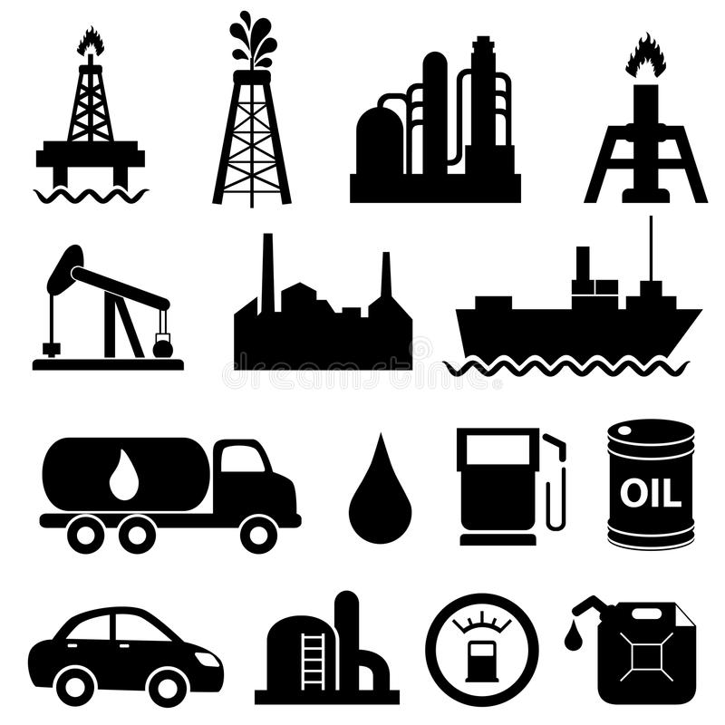 Free Oil Industry Icon Set Royalty Free Stock Image - 26487296
