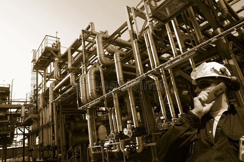 Download Oil industry and pipelines stock photo. Image of warming - 7589808