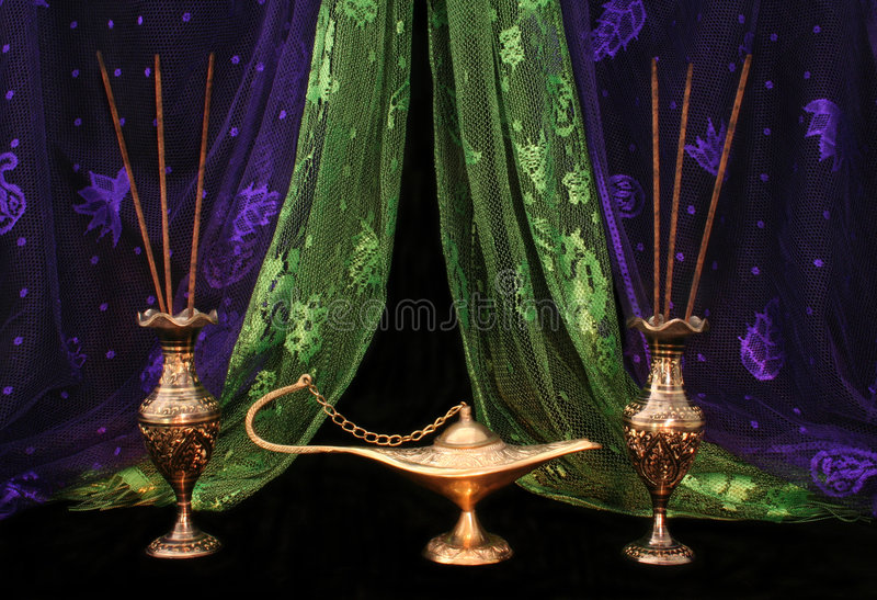 Oil Lamp and stock photography