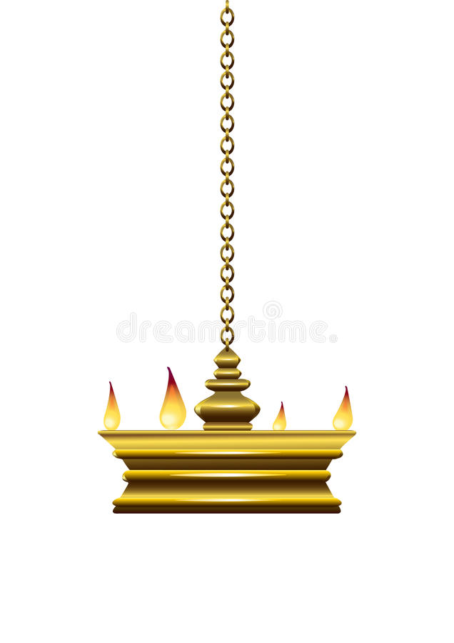 Download Oil lamp stock vector. Image of hanging, white, culture - 14777982