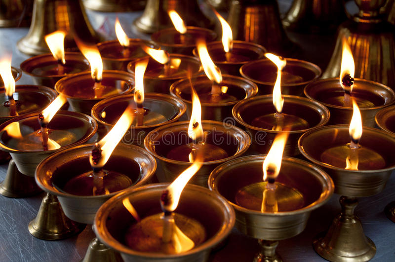 Oil lamp. The photo of oil lamp in temple