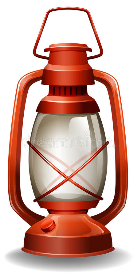 Oil lamp. Close up oil lamp in classic design stock illustration