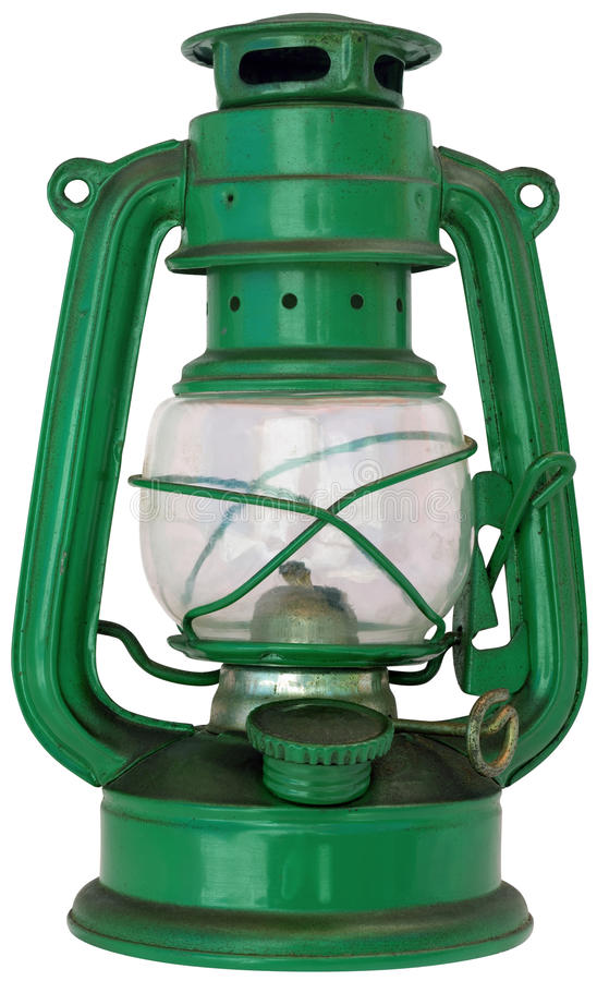 Oil Lamp Cutout Royalty Free Stock Images
