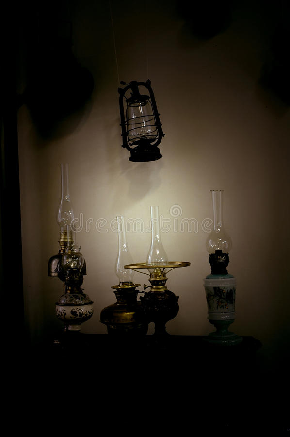 Oil lamps stock photography