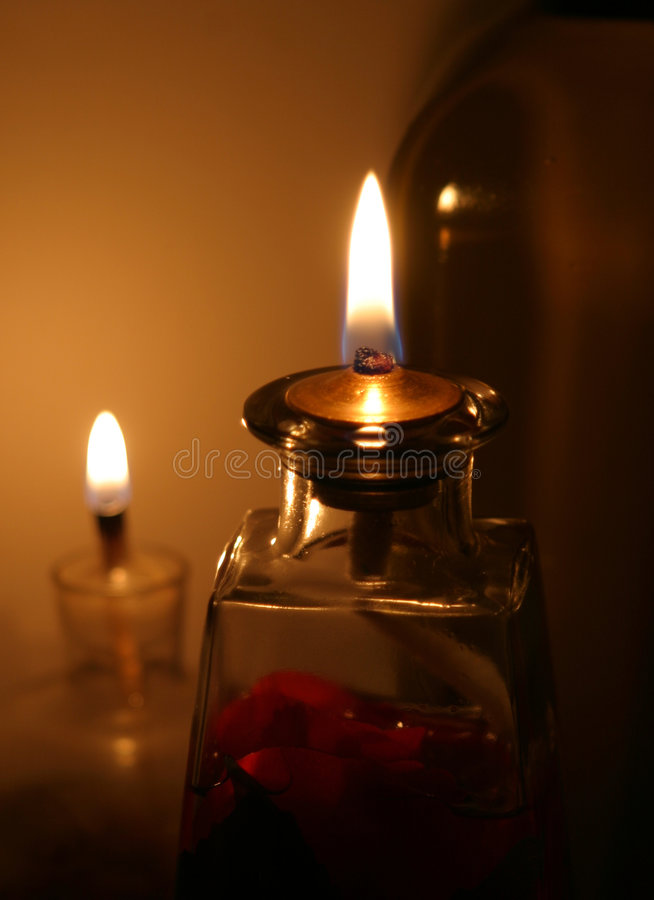 Oil Lamps (selective focus) royalty free stock photos