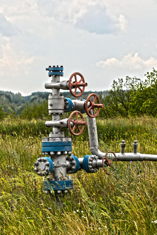 Oil latch stock photos