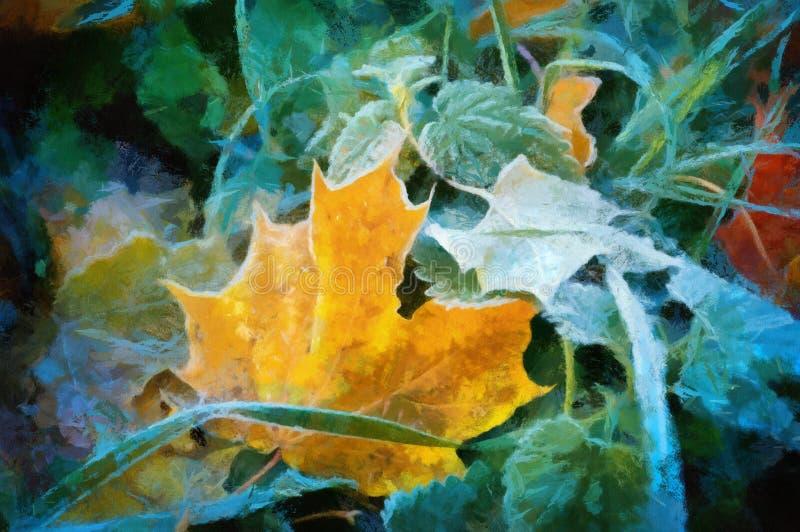 Download Oil maple leaves stock illustration. Illustration of alley - 17712693