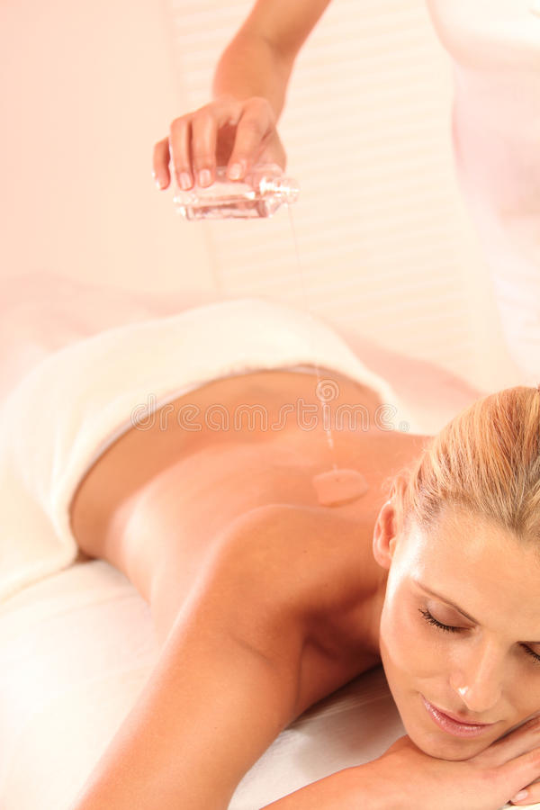 Oil Massage royalty free stock images
