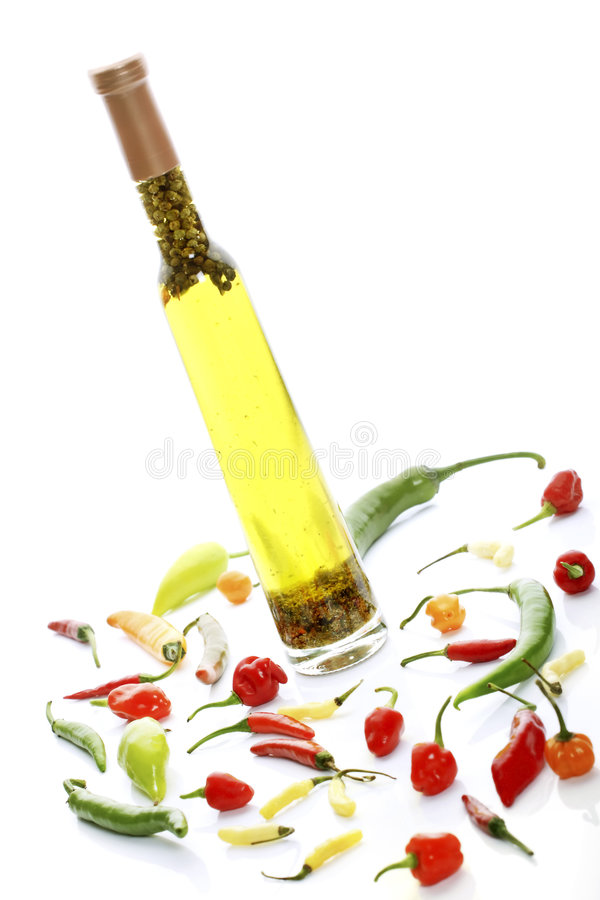 Download Oil and mixed peppers stock image. Image of peppercorns - 3776991