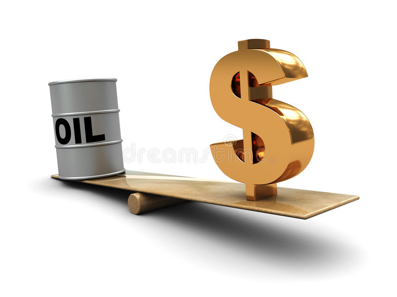Oil and money vector illustration