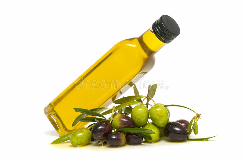 Download Oil and olives stock image. Image of healthy, yellow - 23505391