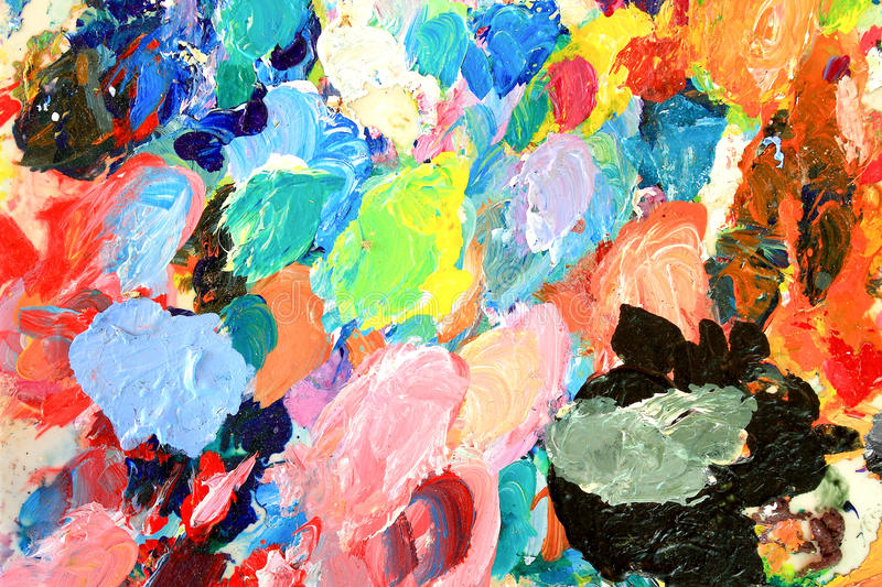 Oil-paint palette. Used in the operation of the oil paint artist's palette royalty free stock photo