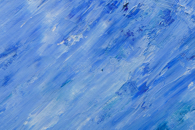 Oil Paint Texture Abstract Blue Background Stock Image Image of