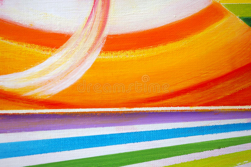 Oil-painted abstract background. vector illustration