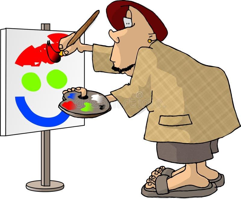 Oil Painter Stock Image