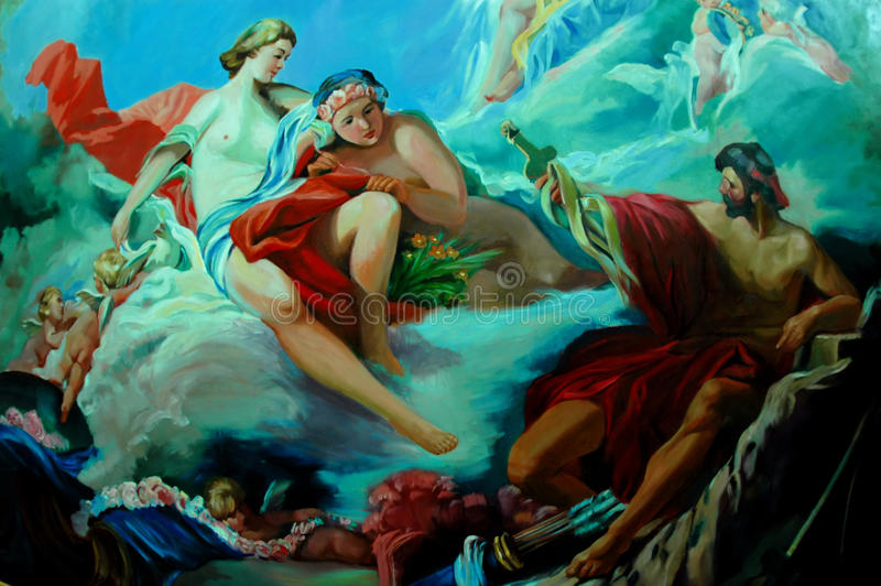 Download Oil painting stock photo. Image of body, clothes, christian - 10347628