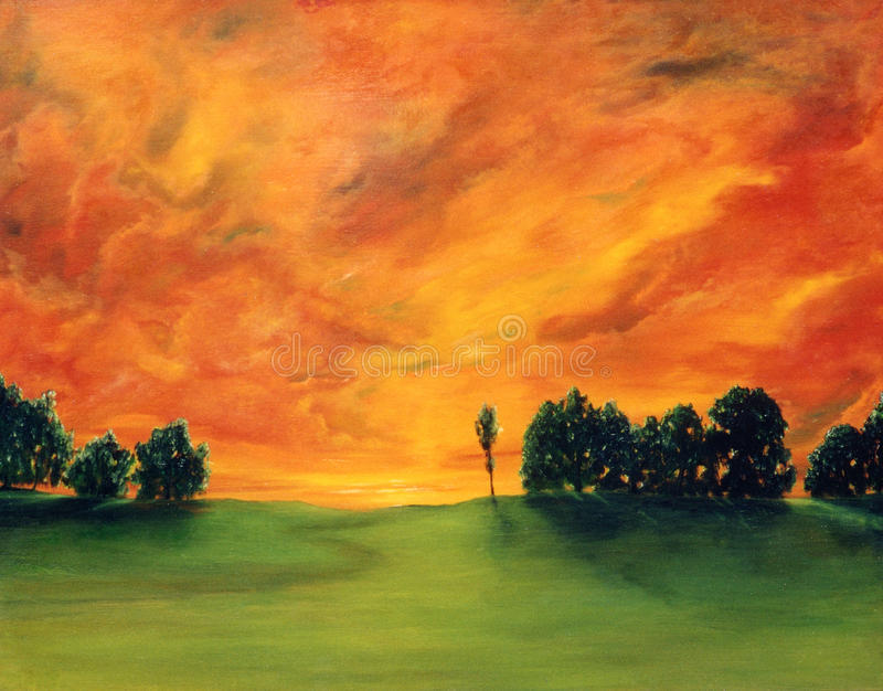 Oil Painting royalty free stock photography