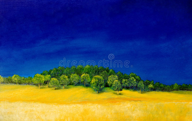 Download Oil painting stock illustration. Illustration of surface - 13576692