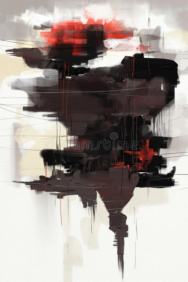Free Oil Painting Abstract Style Artwork On Canvas Royalty Free Stock Photo - 91707985