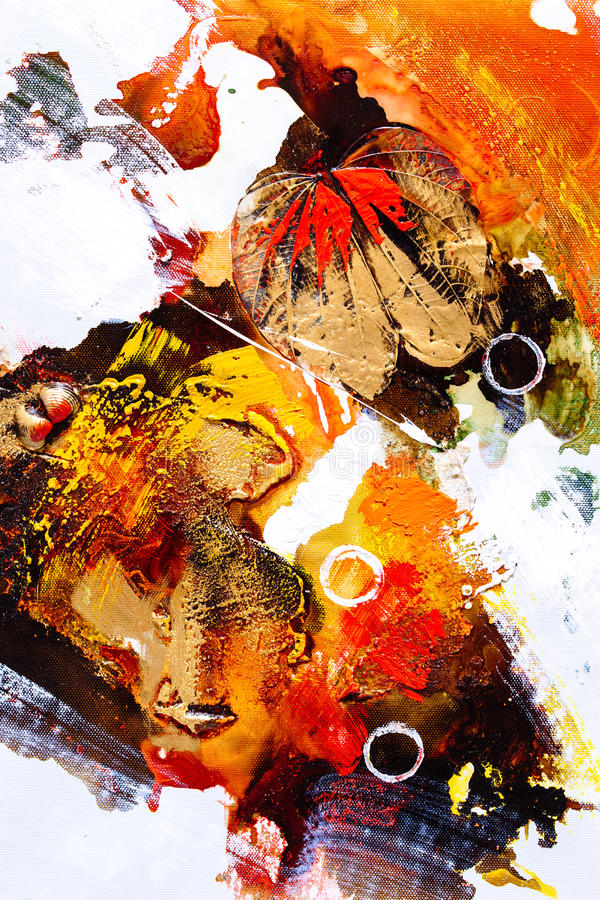 Download Oil Painting - Abstraction stock photo. Image of modern - 68325990