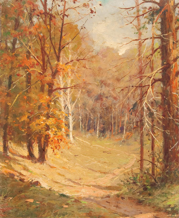 Download Oil Painting - Autumn Forest Stock Illustration - Image: 15229802