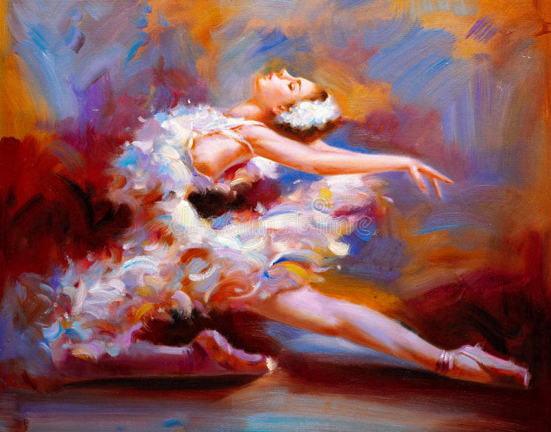 Oil Painting - Ballet royalty free illustration