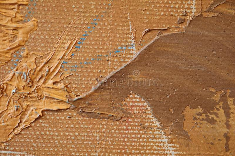 Oil Painting close up texture with brush strokes. Detailed texture of brush strokes stock images