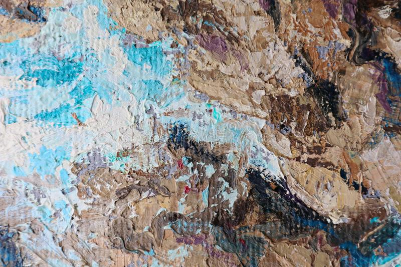 Oil Painting close up texture with brush strokes. Detailed texture of brush strokes stock photos