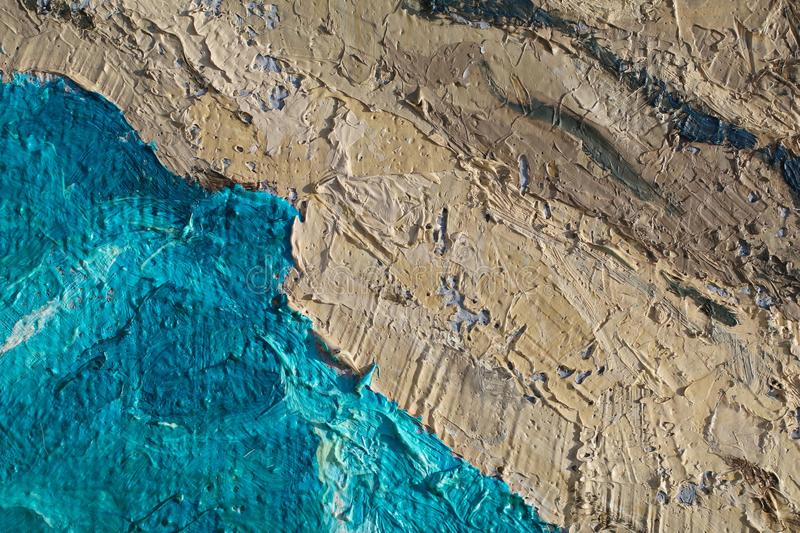 Oil Painting close up texture with brush strokes. Detailed texture of brush strokes royalty free stock photos