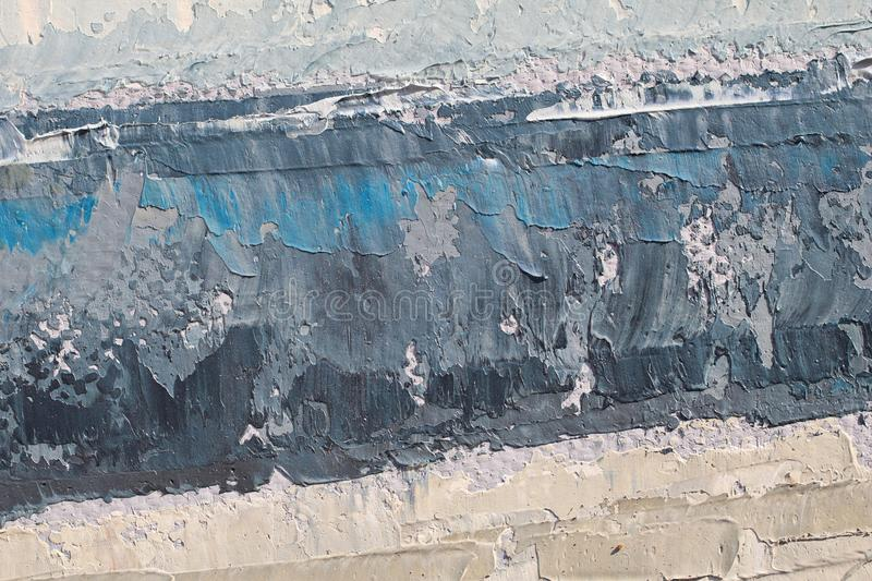 Oil Painting close up texture with brush strokes. Detailed texture of brush strokes royalty free stock image