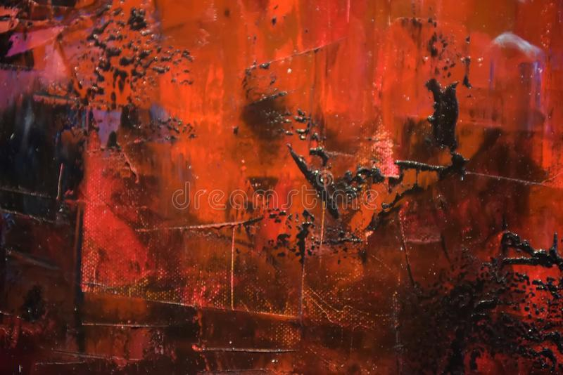 Grunge paint on metal background stock photo