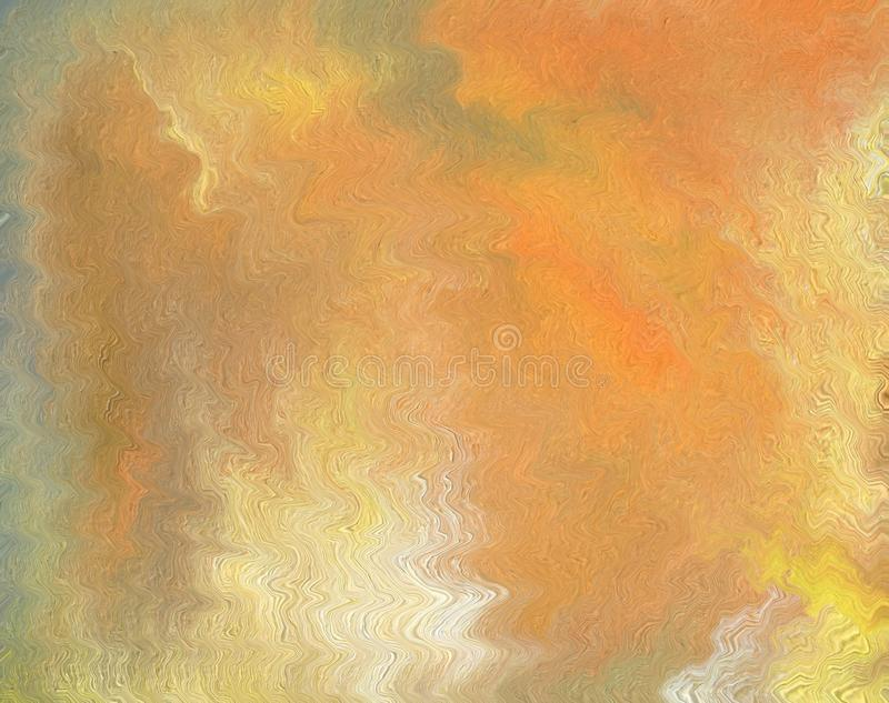 Colorful clean and solid abstract background with a wavy patter. Oil painting and digital technology. Colorful clean and solid abstract background with a wavy royalty free illustration