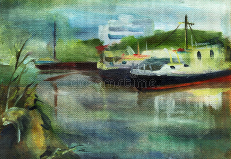 Oil painting landscape royalty free stock photos