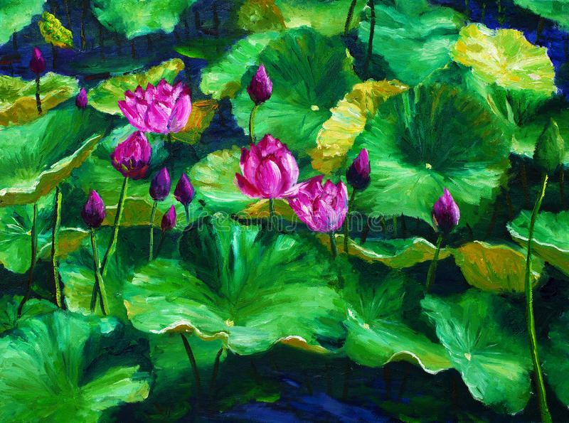 Oil Painting - Louts royalty free stock images