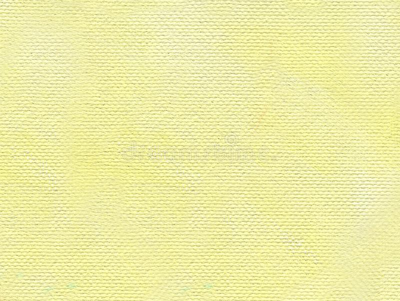 Oil Painting. Solid and uniform pale yellow background. With canvas texture. The sunny sky royalty free stock photo