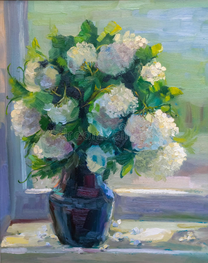 Oil Painting, Impressionism Style, Texture Painting, Flower