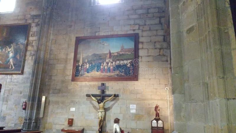 Basilica de la begonya Bilbao Spain stock images