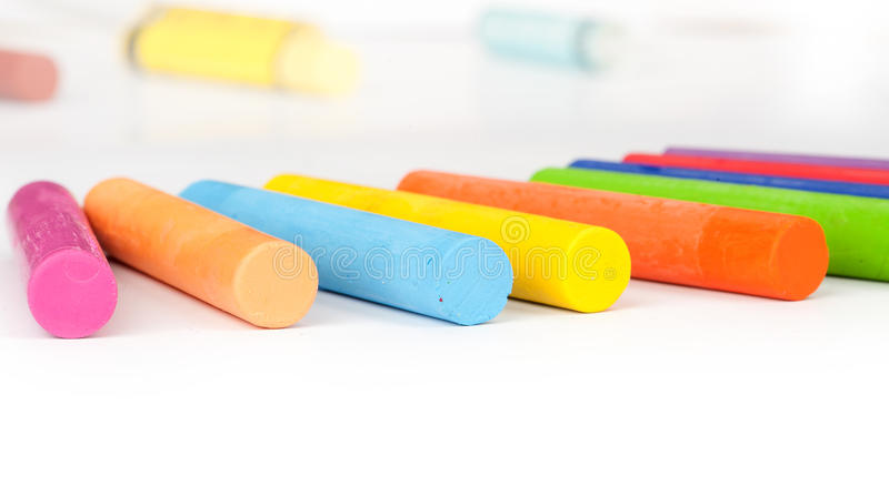 Oil Pastel Crayons Royalty Free Stock Images