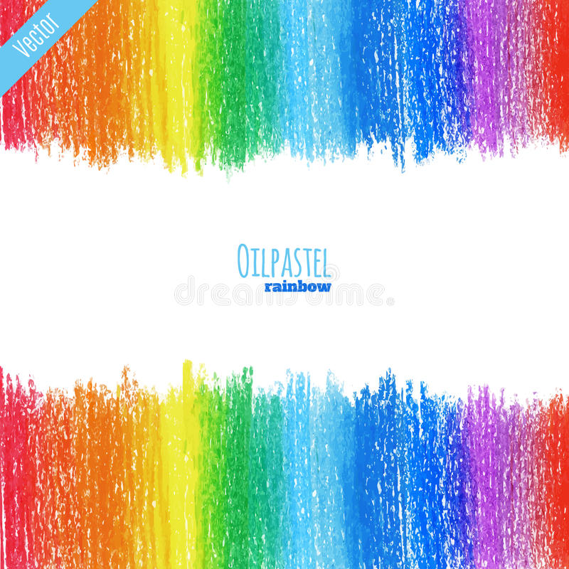 oil pastel rainbow background royalty free stock images