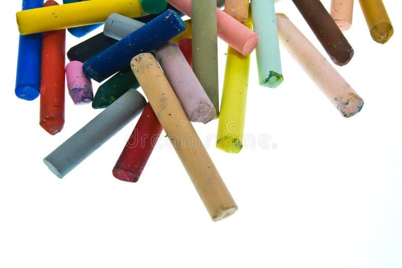 Oil pastel sticks stock photo