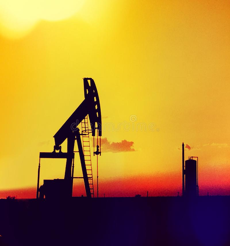 Oil patch stock image