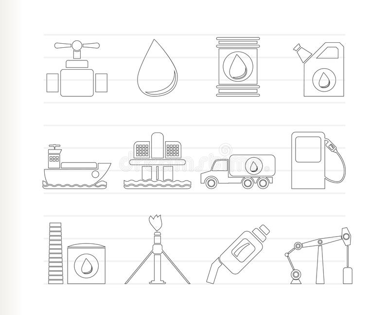 Download Oil And Petrol Industry Objects Icons Stock Vector - Image: 17045926